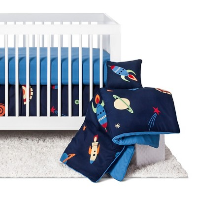 Sweet Jojo Designs Space Galaxy 11pc Crib Bedding Set - Blue