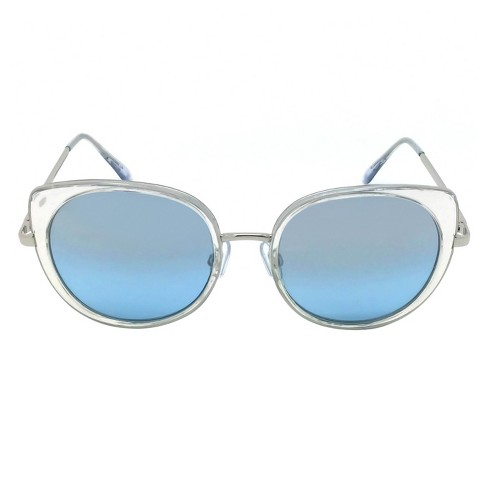 Women's Oversized Sunglasses - Clear/Silver - image 1 of 2