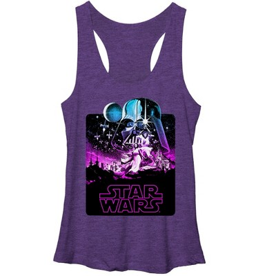 Women's Star Wars Epic Artwork Racerback Tank Top