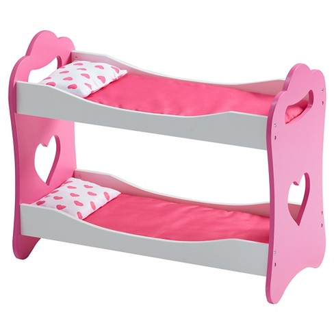 "Olivia's Little World - Princess of Hearts Pop Pink 18"" Doll Bunk Bed - image 1 of 1"
