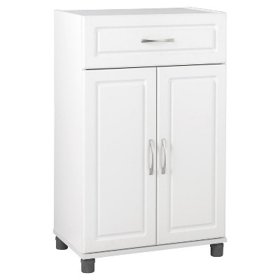 "24"" Boost 1 Drawer/2 Door Base Storage Cabinet White - Room & Joy"