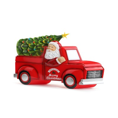 """Mr. Christmas Outdoor LED Christmas Decoration Santa in Christmas Tree Truck - 21"""""""