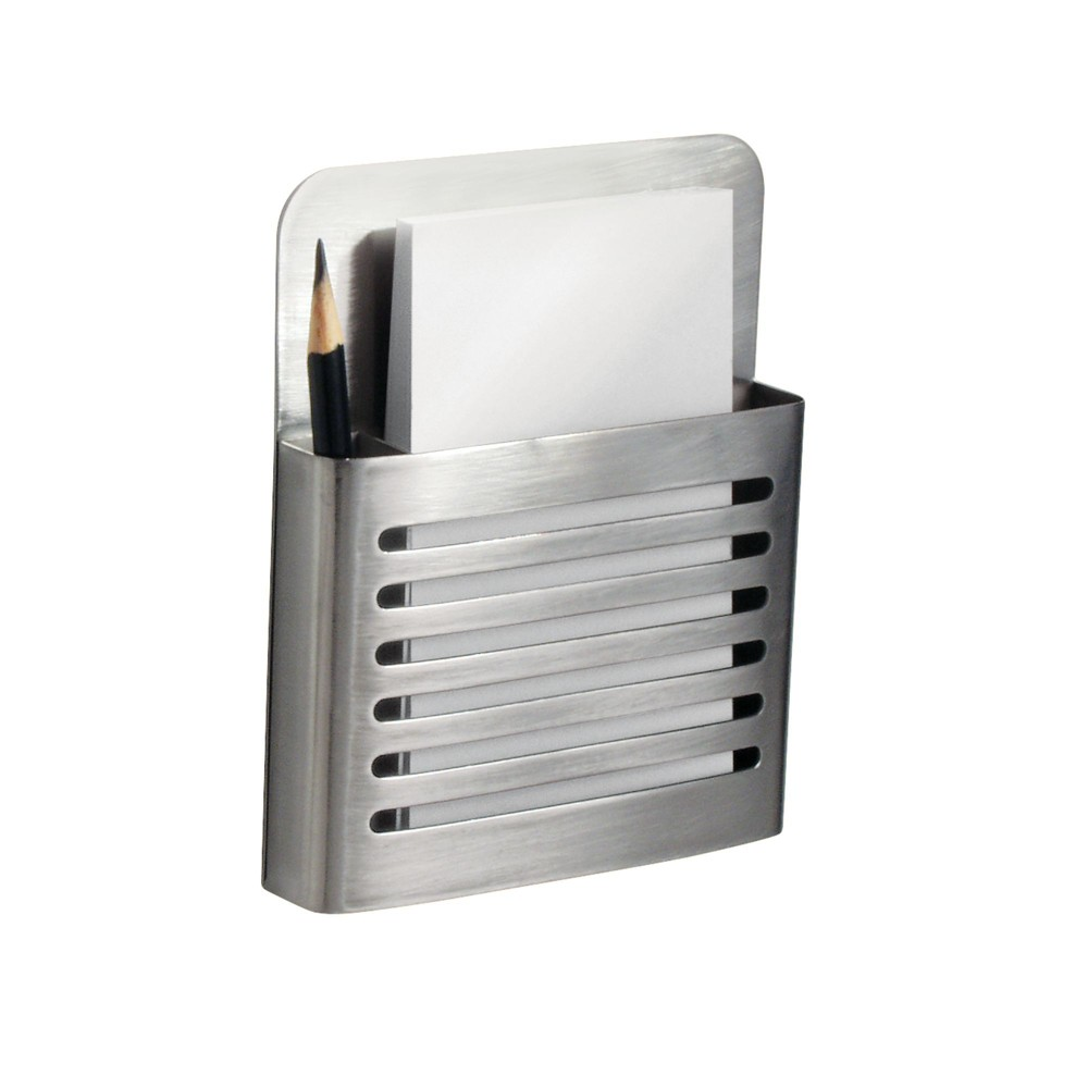 Image of InterDesign Forma Stainless Steel Magnetic Memo Center Brushed