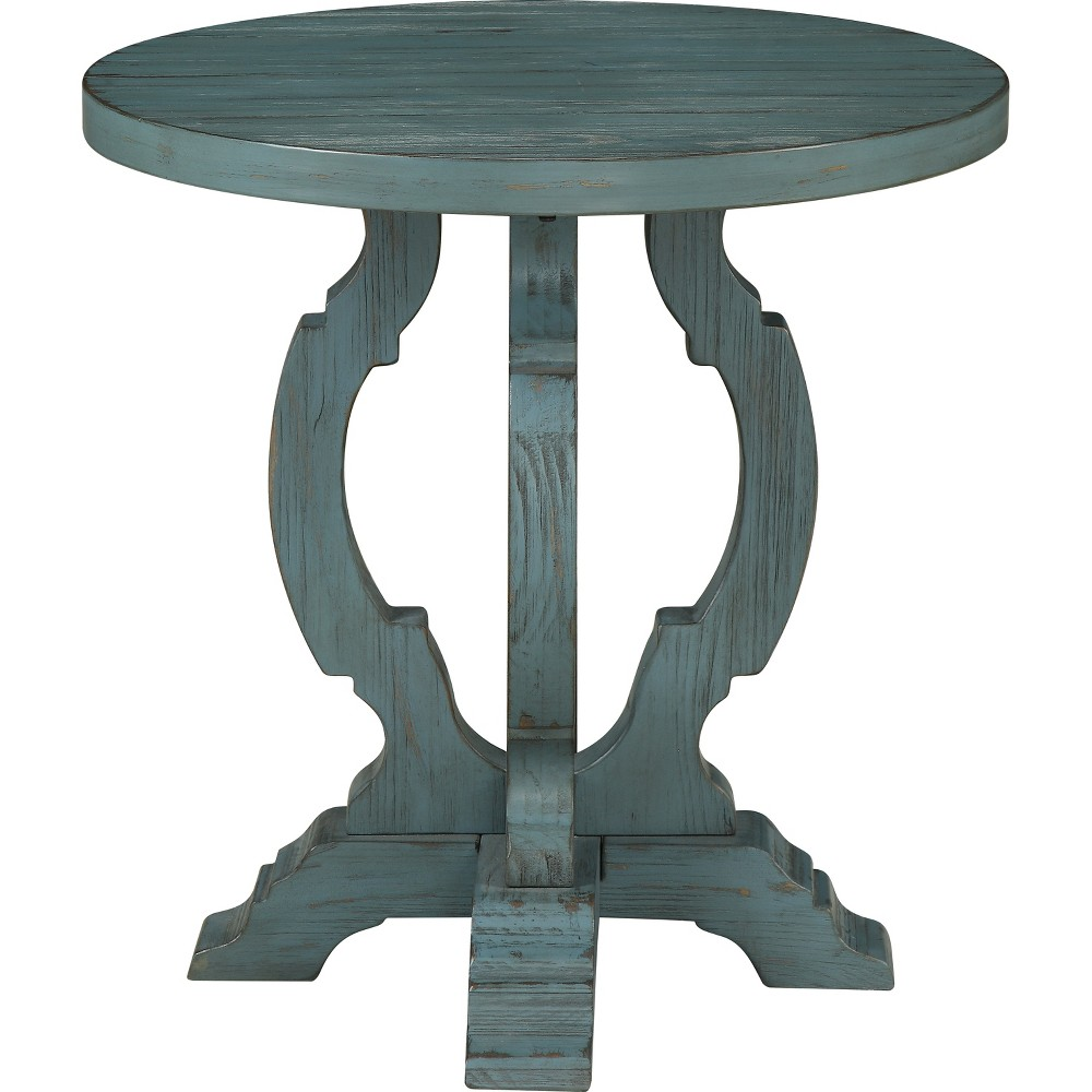 Orchard Park Accent Table Blue - Treasure Trove
