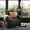 Bailey Club Chair Leather Dark Brown - Abbyson Living - image 4 of 4