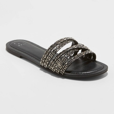 Women's Amie Embellished Strappy Slide Sandals - A New Day™