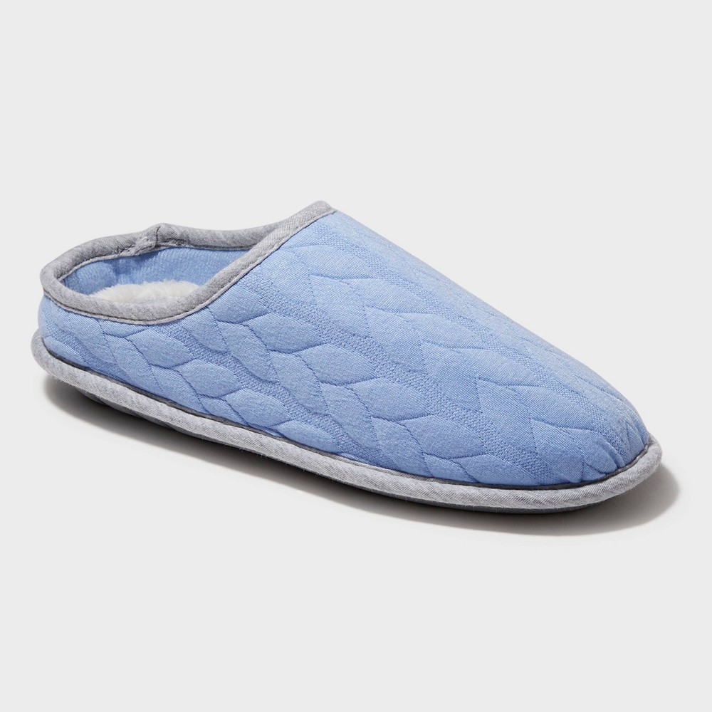 Image of Women's Dearfoams Cable Quilted Clog Slide Slippers - Iceberg Gray L (9-10), Size: Large (9-10), Blue