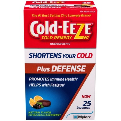 Cold-Eeze Plus Defense Citrus with Elderberry Lozenges - 25ct