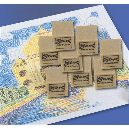 Sax Art Gum Block Erasers, 1 x 1 x 1/2 Inches, pk of 24 - image 1 of 1