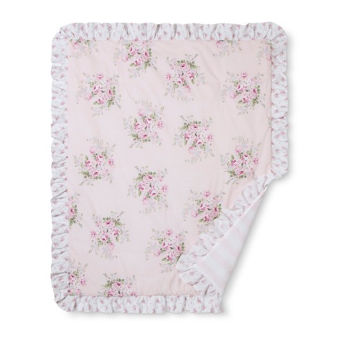 Crib Bedding Set Bouquet Rose Simply Shabby Chic Nursery Pink Target