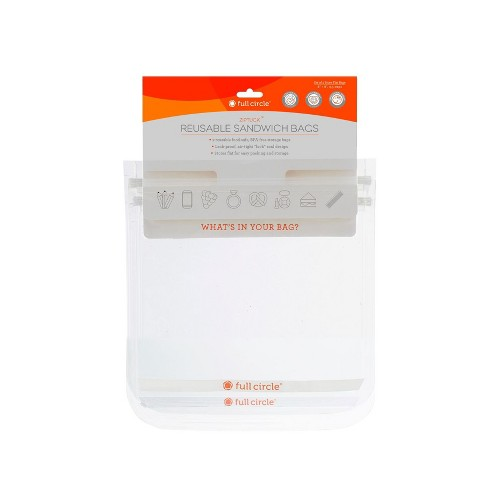 Full Circle 3.5cup 2pk Reusable Sandwich Bags - image 1 of 4