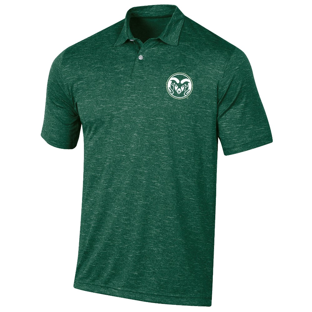 Colorado State Rams Men's Short Sleeve Twisted Jersey Polo Shirt - S, Multicolored