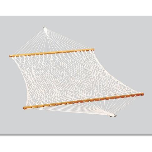Double Cotton Rope Patio Hammock - White - Algoma - image 1 of 4