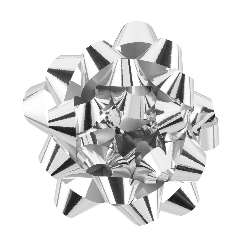 Image of Jumbo Glitter Bow Silver - Spritz