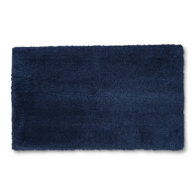 "34""x20"" Tufte Spa Bath Rug Metallic Blue - Fieldcrest®"