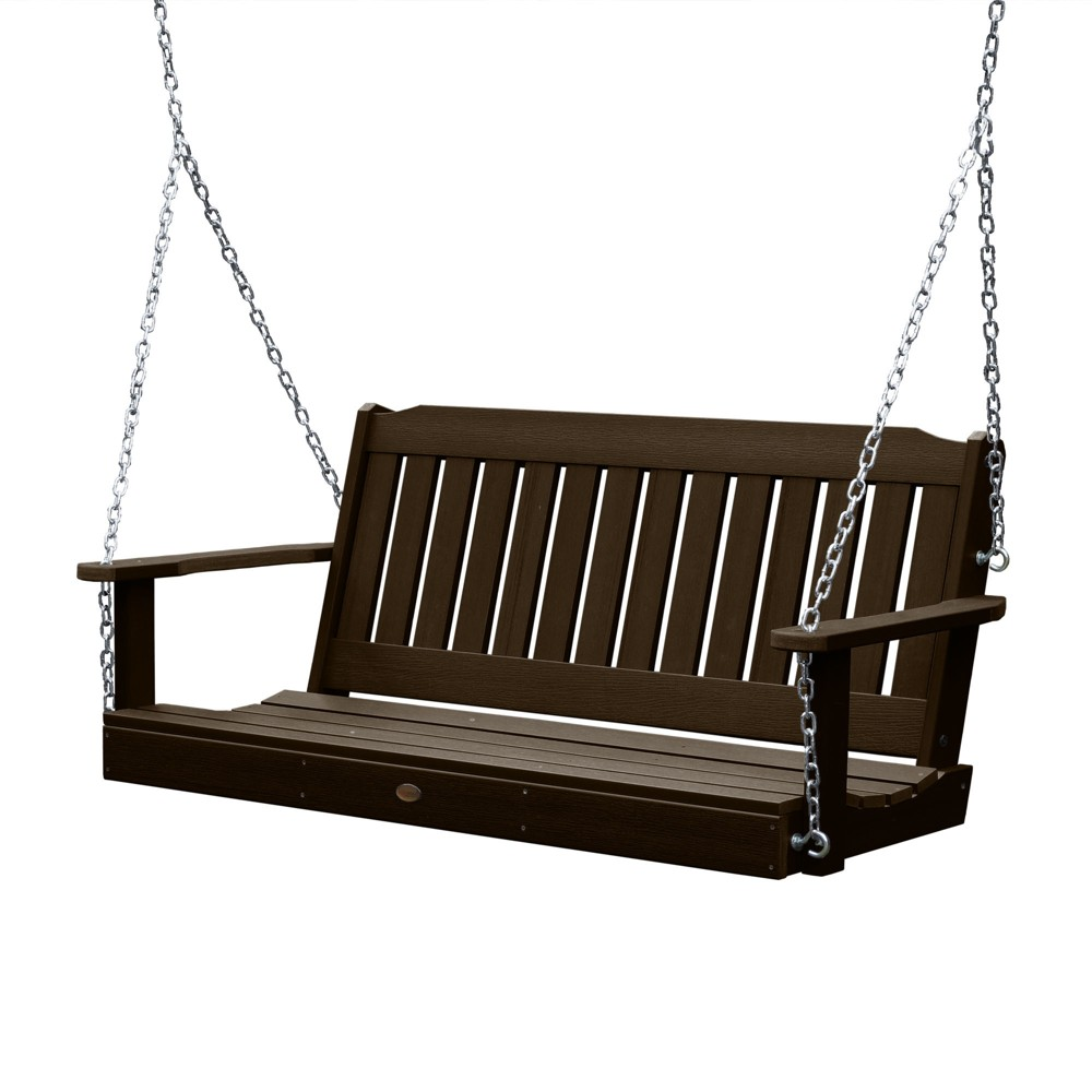 Lehigh Porch Swing 5ft Weathered Acorn - Highwood