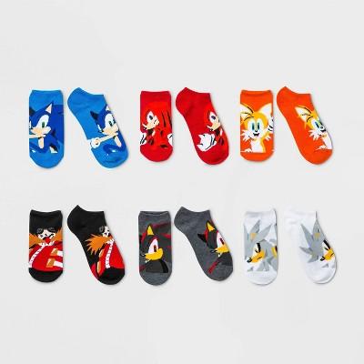 Boys' Nintendo 6pk Sonic Socks