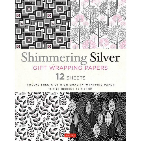 Shimmering Silver Gift Wrapping Papers - (Paperback) - image 1 of 1