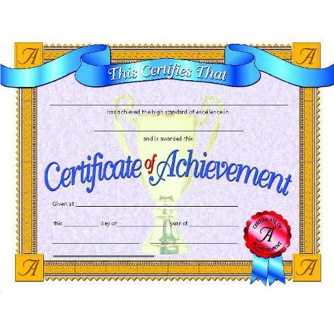 Hayes Achievement Certificate, 11 x 8-1/2 inches, Paper, pk of 30 - image 1 of 1