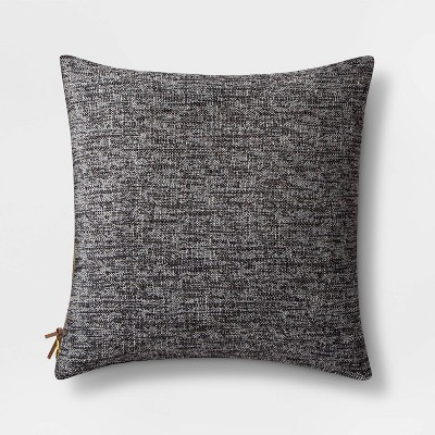 Woven Square Pillow with Exposed Zipper Black - Project 62™