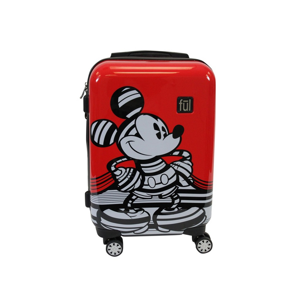 "Image of ""FUL 21"""" Disney Mickey Mouse Hardside Suitcase - Red, Size: Small"""