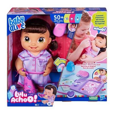 Baby Alive Lulu Achoo Baby Doll - Brown Hair
