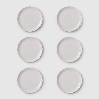 10.7  6pk Glass Dinner Plates Gray - Made By Design™