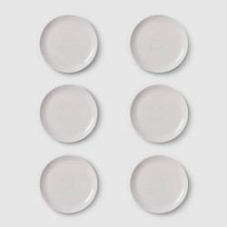 """10.7"""" 6pk Glass Dinner Plates Gray - Made By Design™"""