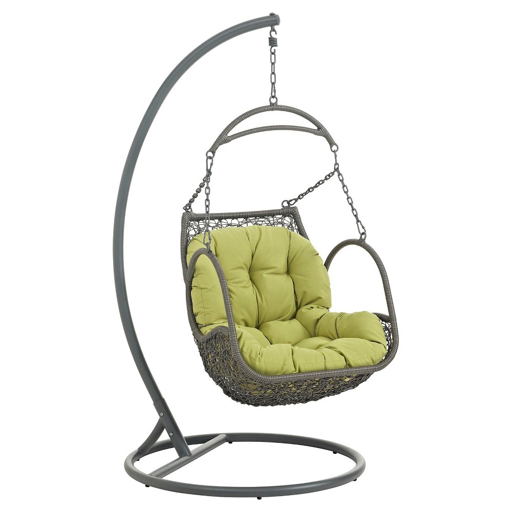 Arbor Outdoor Patio Wood Swing Chair Green - Modway