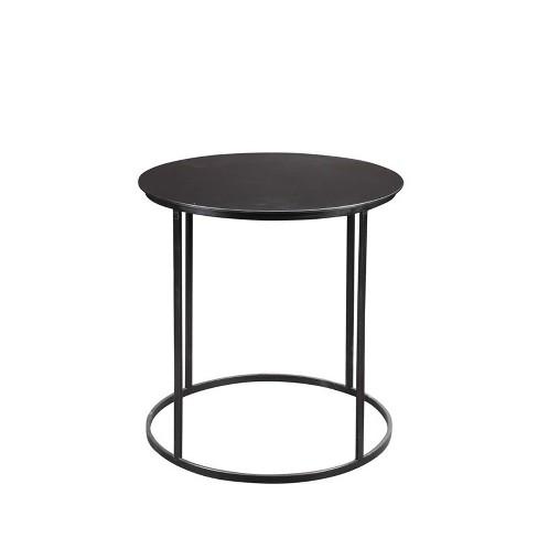 Iron Round Side Table In Dark Brown Burnham Home Designs Target