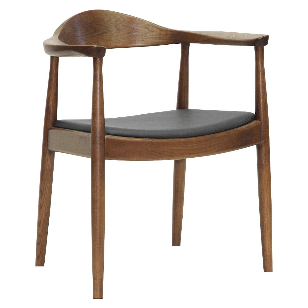 Embick Mid-Century Modern Dining Chair - Brown - Baxton Studio