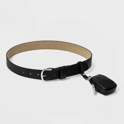 Women's Belt with Removable Pouch - Wild Fable™ Black
