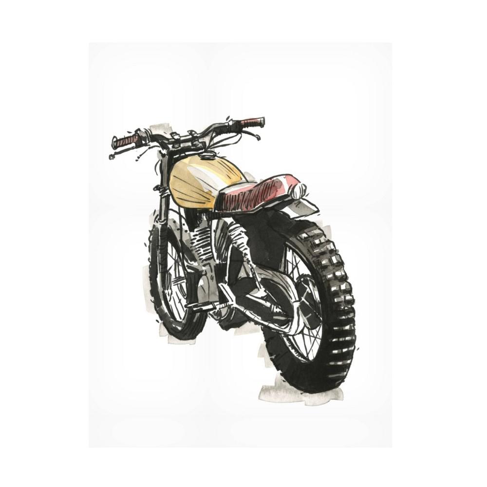 35 34 X 47 34 Annie Warren 39 Motorcycles In Ink Iii 39 Unframed Wall Canvas Trademark Fine Art