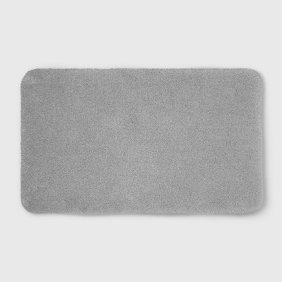 20 x34  Soft Nylon Solid Bath Rug Gray - Opalhouse™
