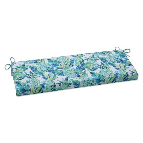 Outdoor/Indoor Bench Cushion Vida Opal Blue - Pillow Perfect