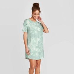 Women's Tie-Dye Print Short Sleeve Beautifully Soft Nightgown - Stars Above™ Mint