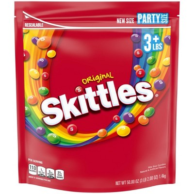 Skittles Original Party Size Chewy Candy - 50oz