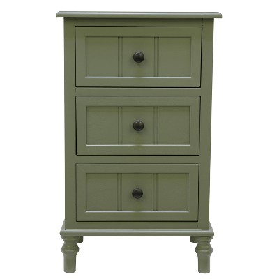 3 Drawer Simplify Accent Table Olive Branch - Decor Therapy