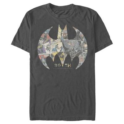 Men's Batman Shield Logo Comic 80th Anniversary T-Shirt