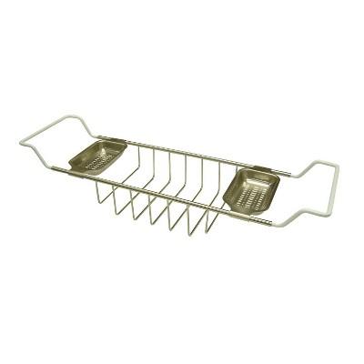 "Kingston Brass 26-33"" Adjustable Length Tub Shelf Nickel - Kingston Brass"