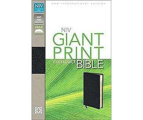 Holy Bible : New International Version, Black, Bonded Leather, Giant Print (Compact, Large Print) - image 1 of 1