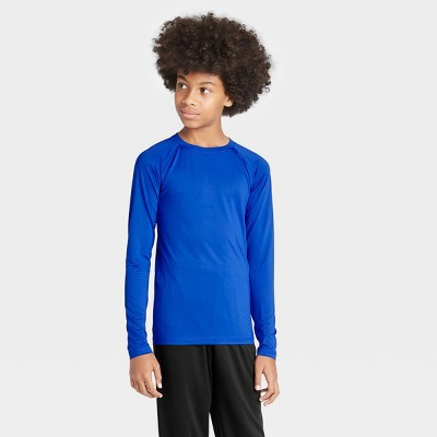 Boys' Long Sleeve Fitted Performance Crewneck T-Shirt - All in Motion™