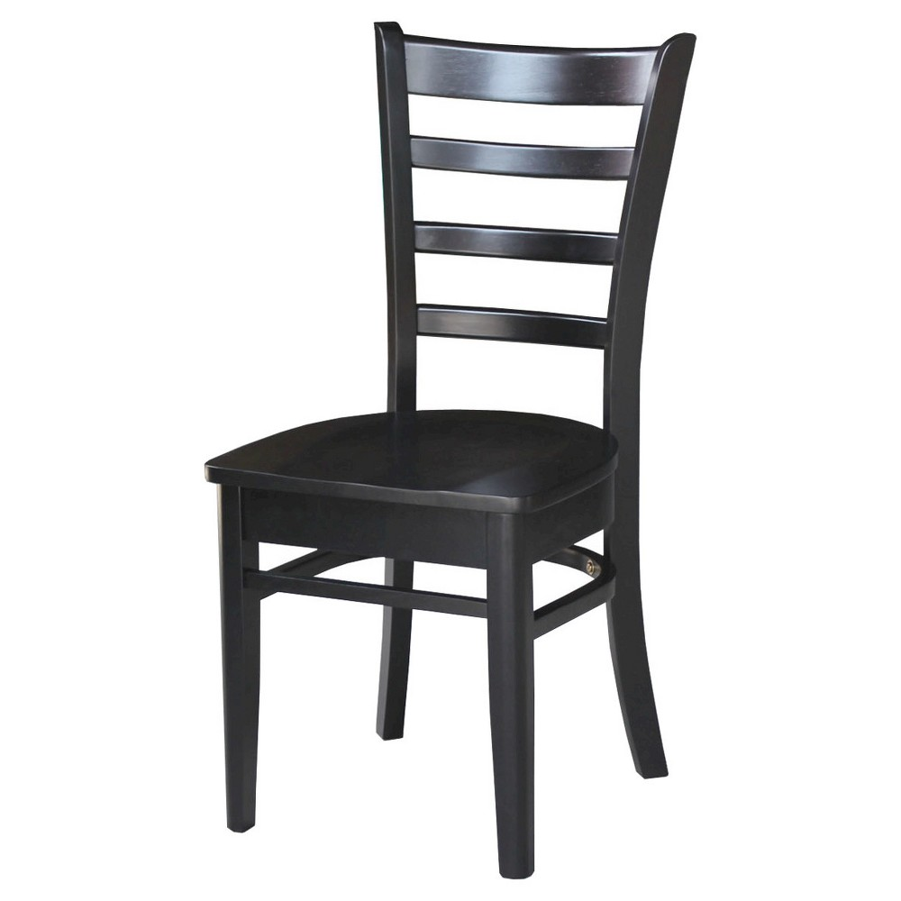 Emily Side Dining Chair - Black (Set of 2) - International Concepts