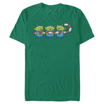 Men's Toy Story Christmas Candy Cane Alien T-Shirt