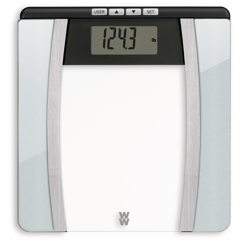 Image of Body Analysis Glass Scale Silver - Weight Watchers