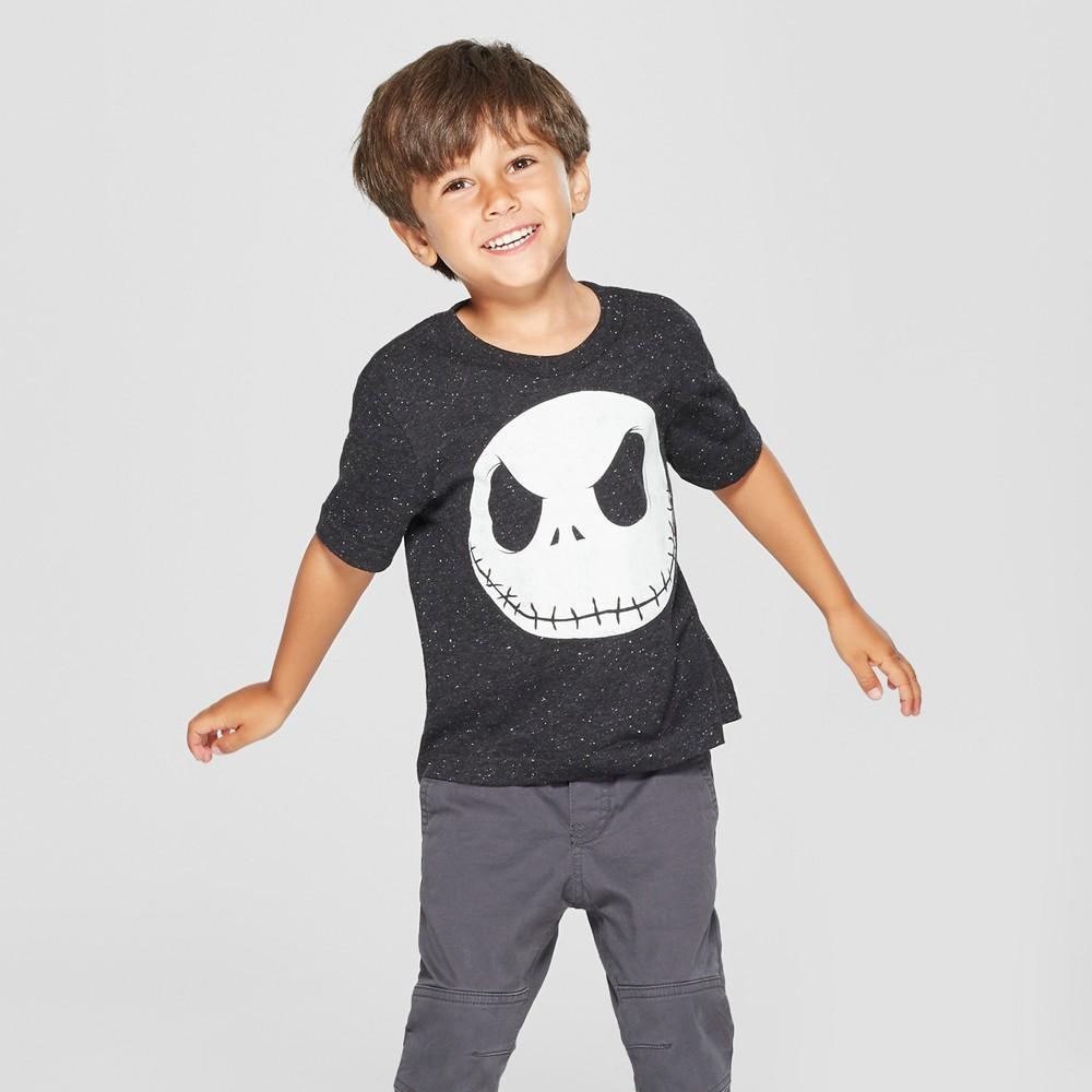Toddler Boys' Disney The Nightmare Before Christmas Jack Skellington Short Sleeve T-Shirt - Black 4T