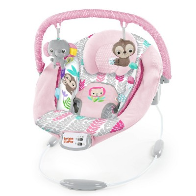 Bright Starts Cradling Bouncer Seat with Vibration and Melodies - Rosy Vines