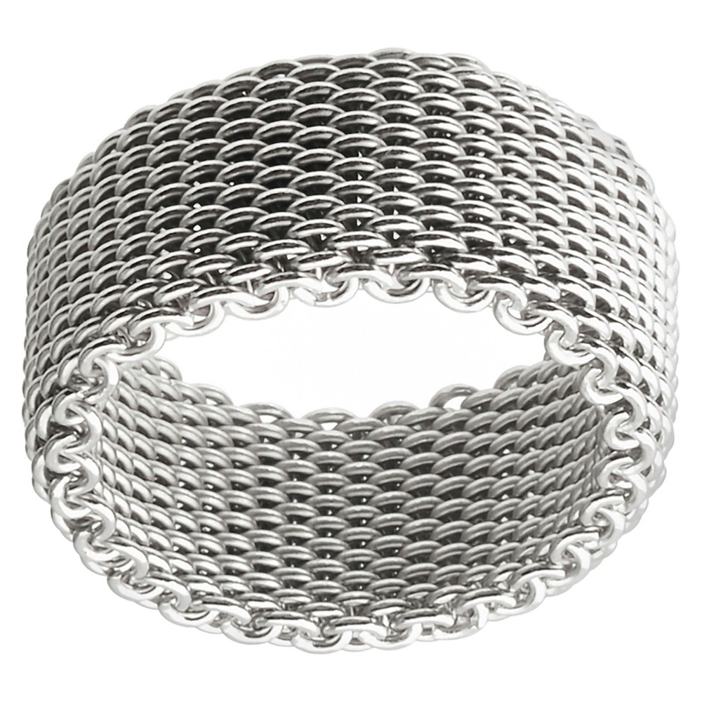 Women's Journee Collection Mesh Band in Sterling Silver - Silver, 8