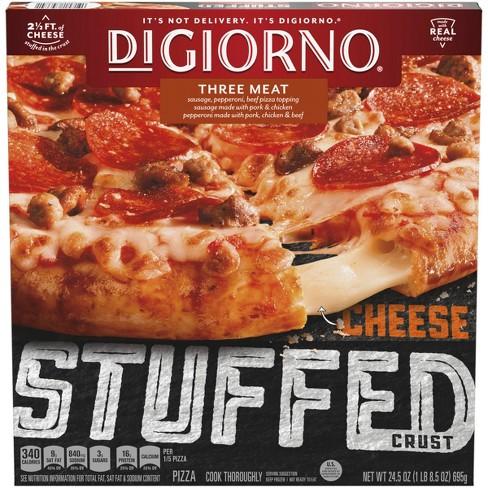 DiGiorno Cheese Stuffed Crust Three Meat Frozen Pizza - 24.5oz - image 1 of 3