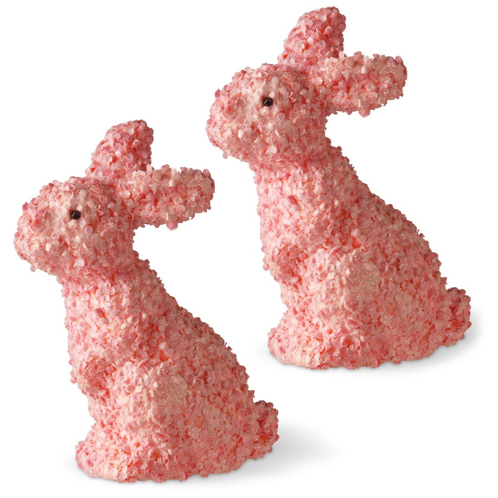 "Image of ""11"""" Pink Bunny Pair - National Tree Company"""
